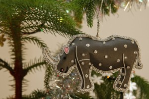 Zardozi Christmas Rhino