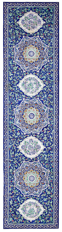 Uzbek Ceramic Tile Panel