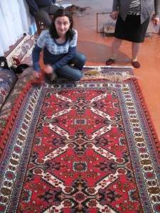 Aygun unrolls some of World of Carpet's creations