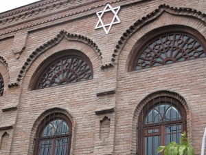Old synagogue facade in Krasnaya Sloboda
