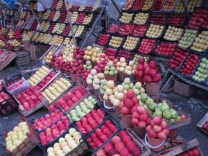 Apples for sale along the road