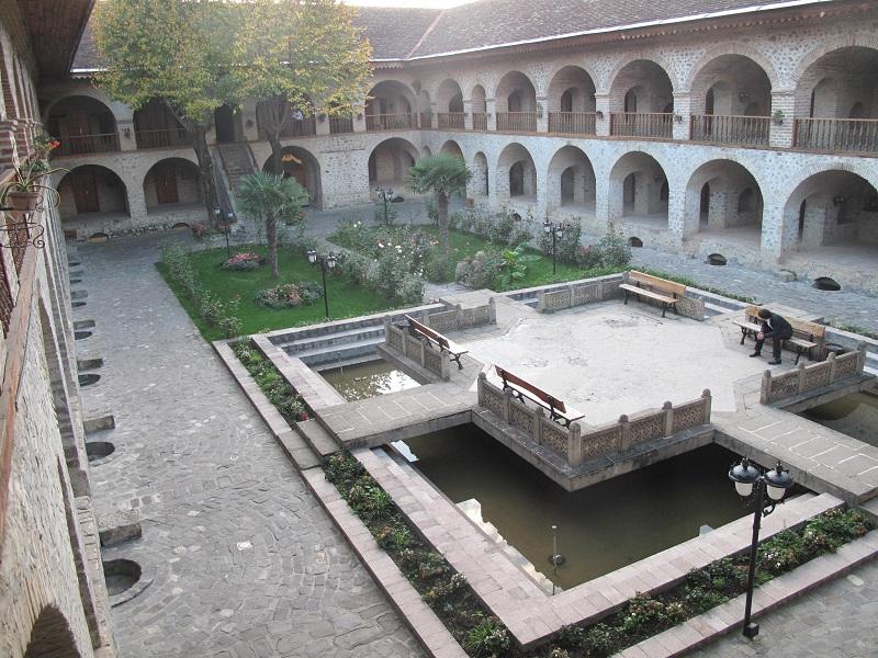 Original Caravanserai In Sheki Converted Into Hotel Azerbaijan Caucasus