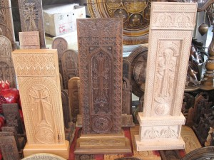 Wood khachkars for sale