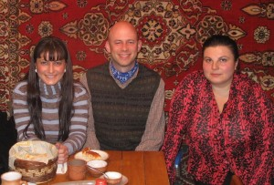 Dinner and carpets in Yerevan