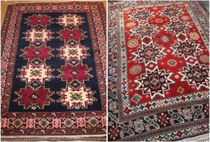 Eight-point star carpet