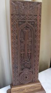 Wooden khachkar