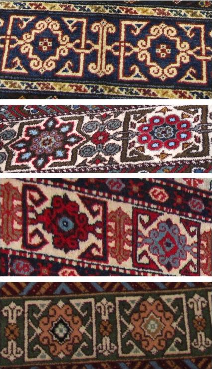 Border Motifs In Oriental Carpets