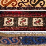 The S-shape or hook pattern in three different rugs