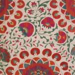 Floral Motifs dominate Uzbek Suzanis