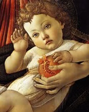 Detail from Sandro Botticelli's Madonna of the Pomegranate (c. 1487)
