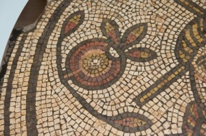 A pomegranate in a Roman mosaic from the 4th century AD