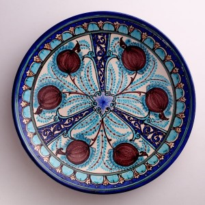 A Rishtan pomegranate platter from Arastan's collection