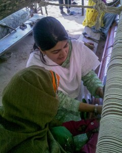 Nisha Learning Carpet Weaving