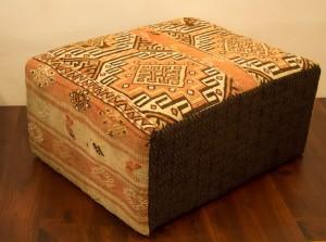 Vintage Anatolian Kilim Ottoman